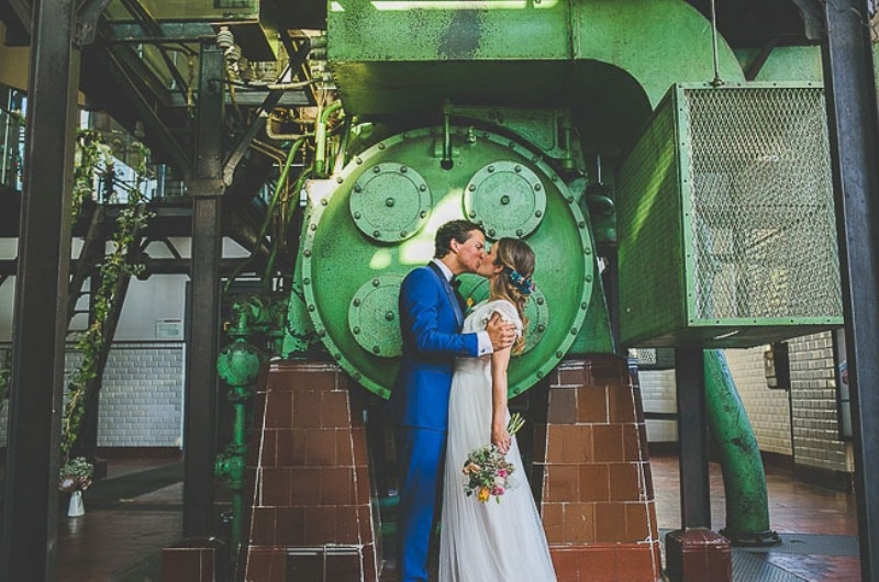 Picture Of unique wedding at an old power station in spain  1