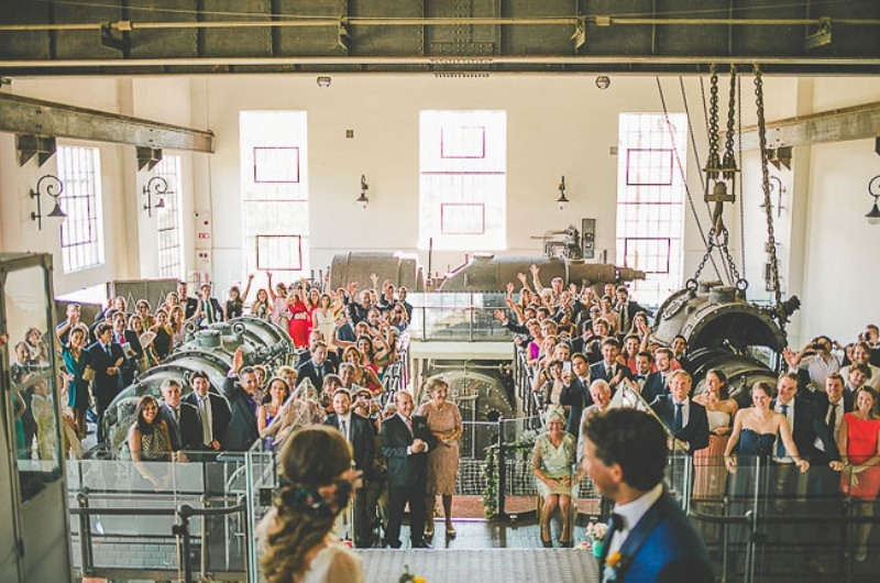 Picture Of unique wedding at an old power station in spain  12