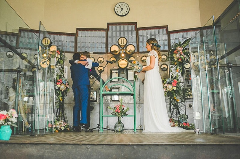 Picture Of unique wedding at an old power station in spain  15
