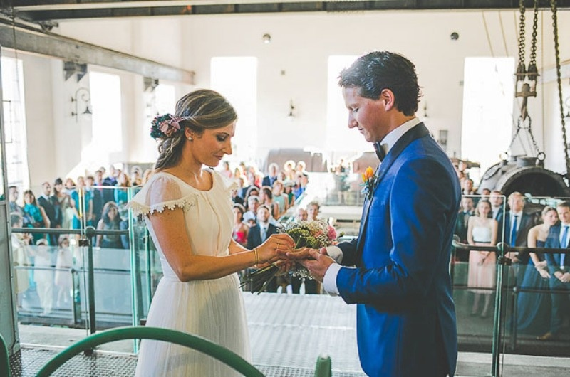 Picture Of unique wedding at an old power station in spain  16