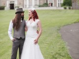 Unique Wedding With Goth And Vintage Touches