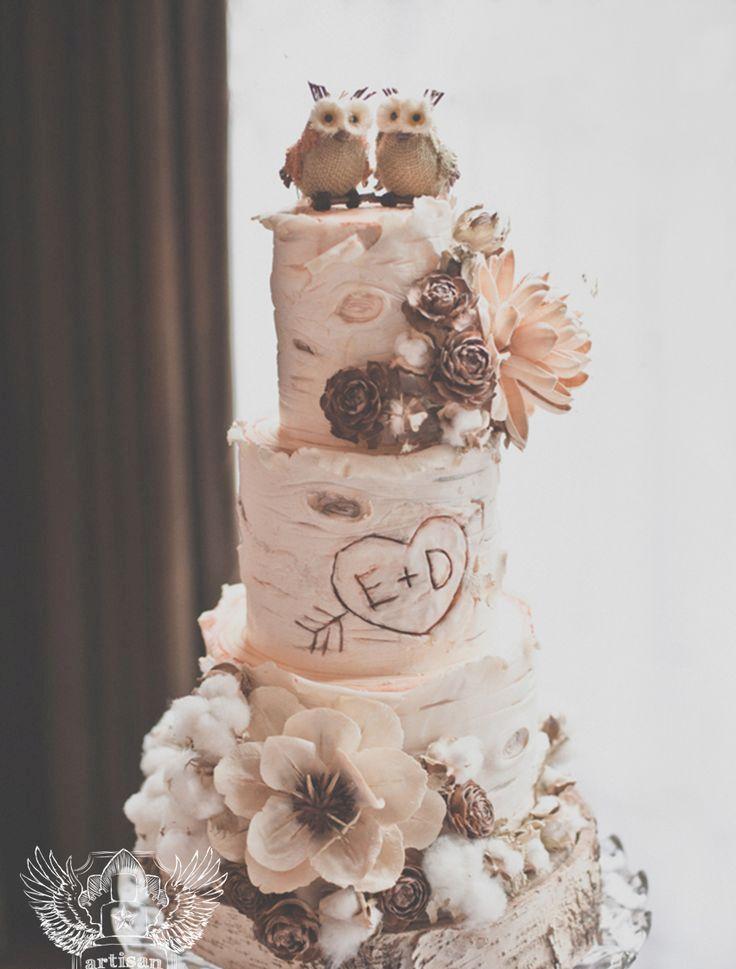 Woodland Wedding Cake Toppers