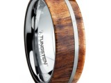 a wood and metal ring looks veyr modern, laconic and still nature-loving a lot