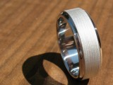 a creative shiny and matte white gold ring can be a great and very laconic accessory – an engagement or wedding ring