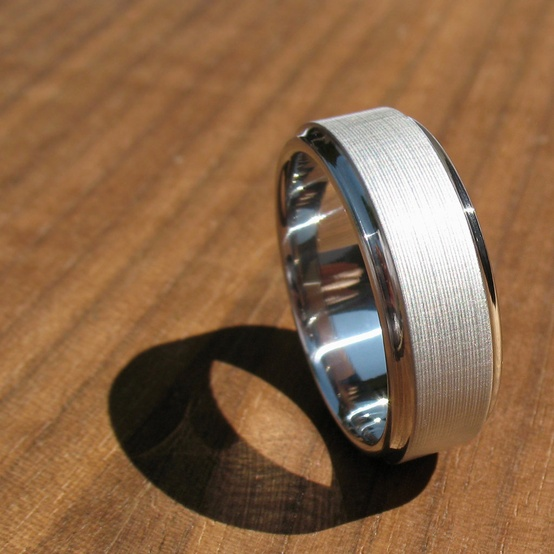 a creative shiny and matte white gold ring can be a great and very laconic accessory   an engagement or wedding ring