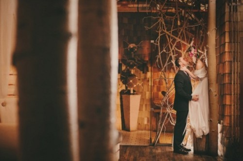Unusual Indoor Forest Wedding Shoot