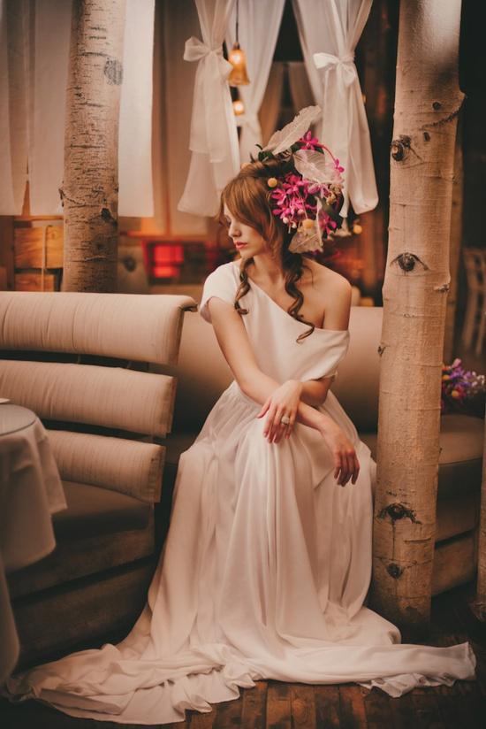 Unusual Indoor Forest Wedding Shoot
