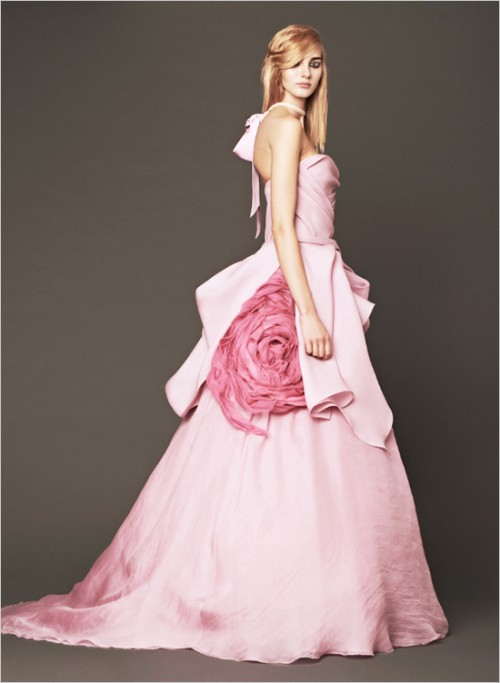 Vera Wang 2014 Pink Wedding Gowns