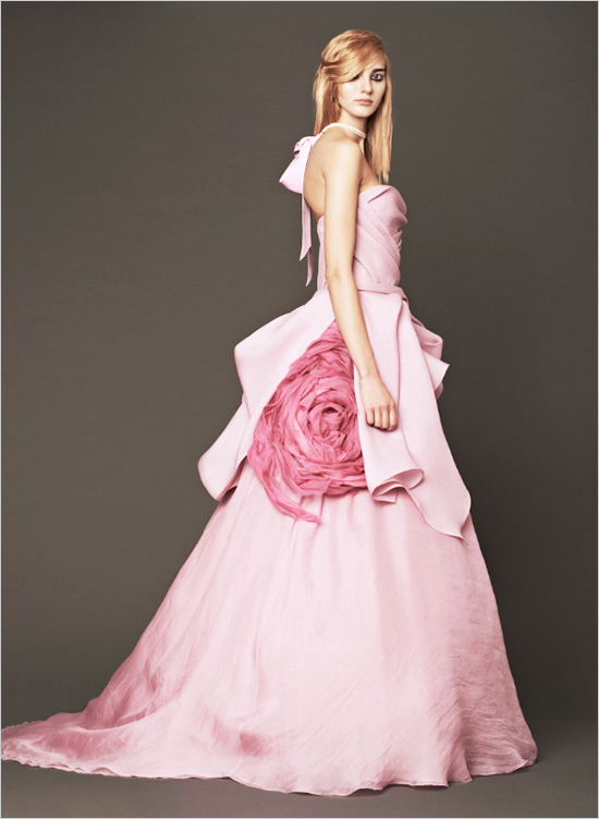 d838dcc4bb3 Vera Wang 2014 Pink Wedding Gowns - Weddingomania
