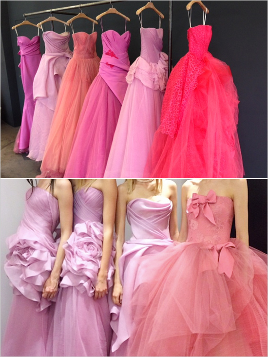 Picture of vera wang 2014 pink wedding gowns for Pink vera wang wedding dresses