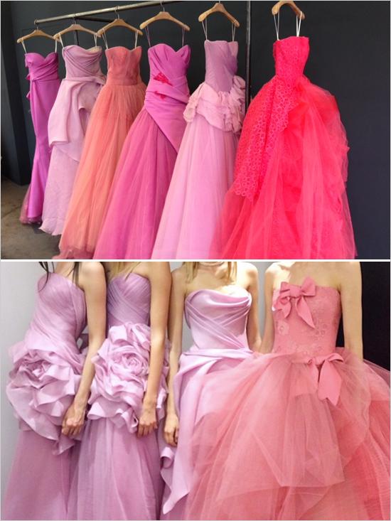 Vera Wang 2014 Pink Wedding Gowns - Weddingomania
