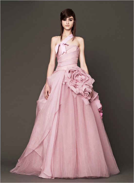 Hot Pink And White Wedding Dress