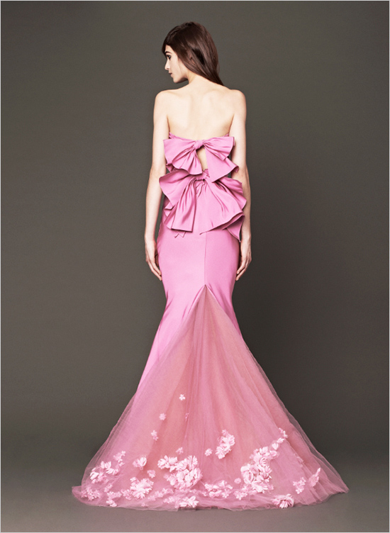 Picture Of Vera Wang 2014 Pink Wedding Gowns