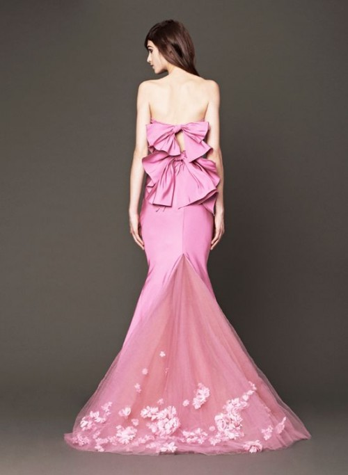 Vera wang 2014 pink wedding gowns weddingomania for Pink vera wang wedding dresses