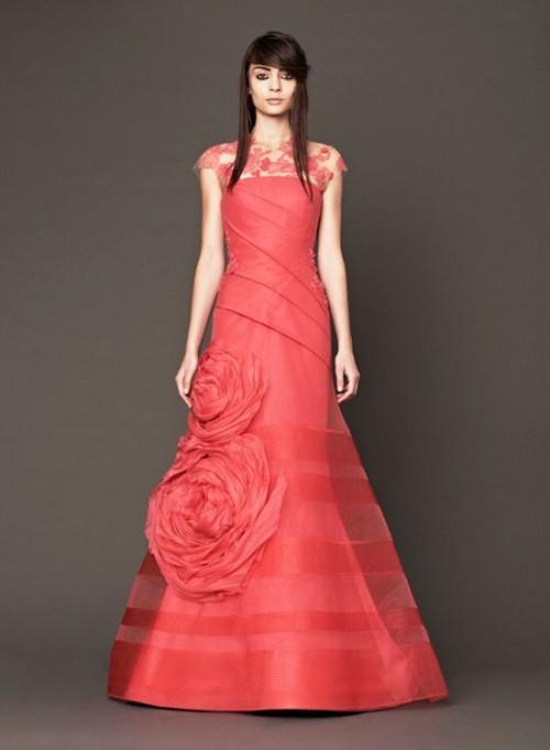 Vera Wang 2014 Pink Wedding Gowns