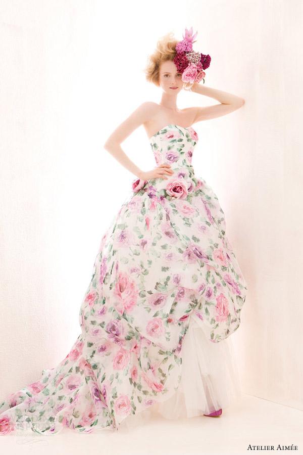 Floral Print Wedding Dresses 64 Ideal Verde Tiffany Wedding Dresses