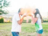 Very Colorful And Fun Engagement Photo Session