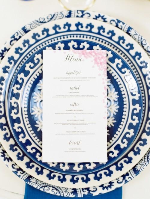 Vibrant And Sophisticated Santorini Wedding Inspiration