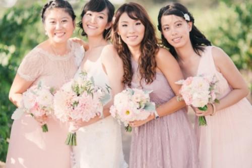 Vineyard Wedding With Blush Pink Touches