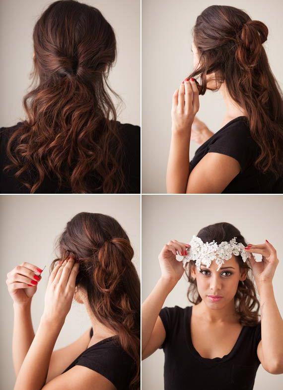 Picture Of Vintage Diy Bridal Hair Tutorial