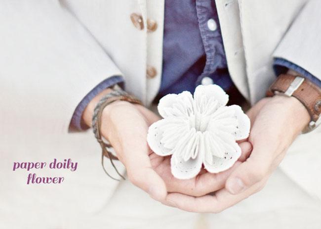 Vintage Diy Flower Garland Of Paper Doilies