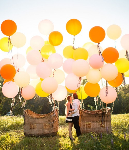 Charming Vintage Hot Air Balloon Wedding Shoot Weddingomania