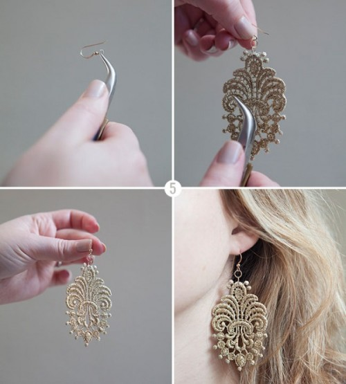 Vintage Inspired Diy Lace Earrings