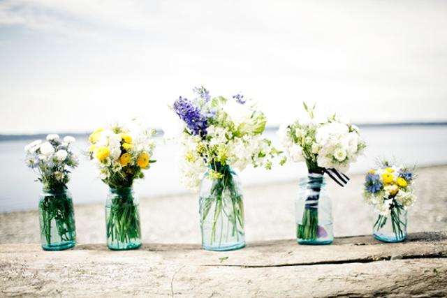 Vintage Wedding Flowers For Tables : Nautical beach wedding weddingomania