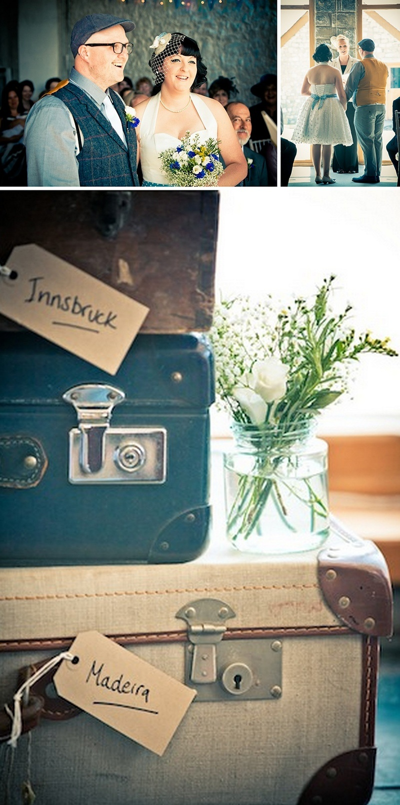 Vintage Rock N Roll Wedding With Blue Touches