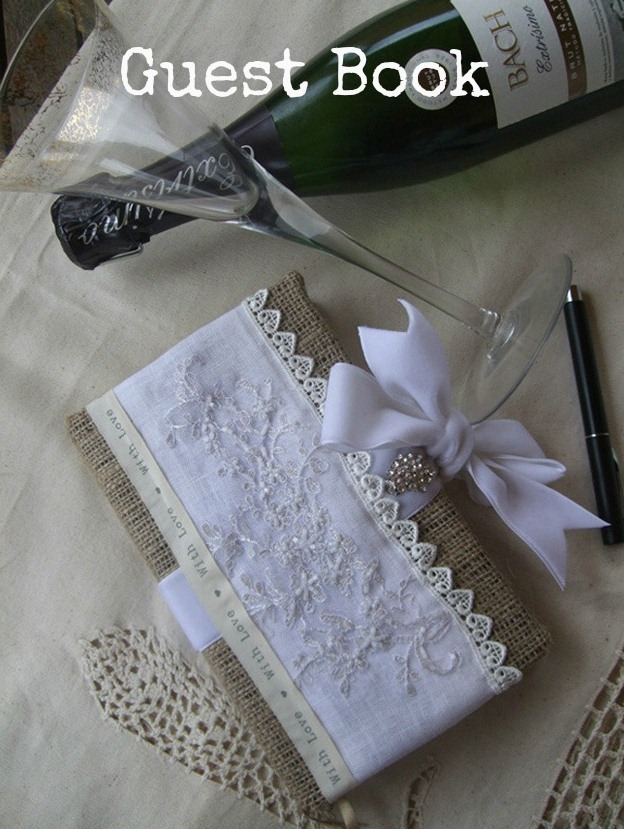 Picture Of Vintage Style Diy Guest Book