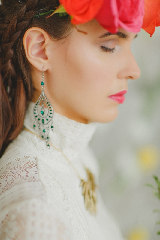 Vivid And Colorful Frida Kahlo Inspired Wedding Shoot