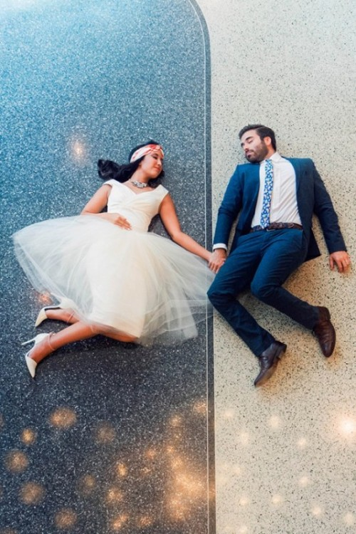 Vivid Mid Century Modern Wedding Inspirational Shoot
