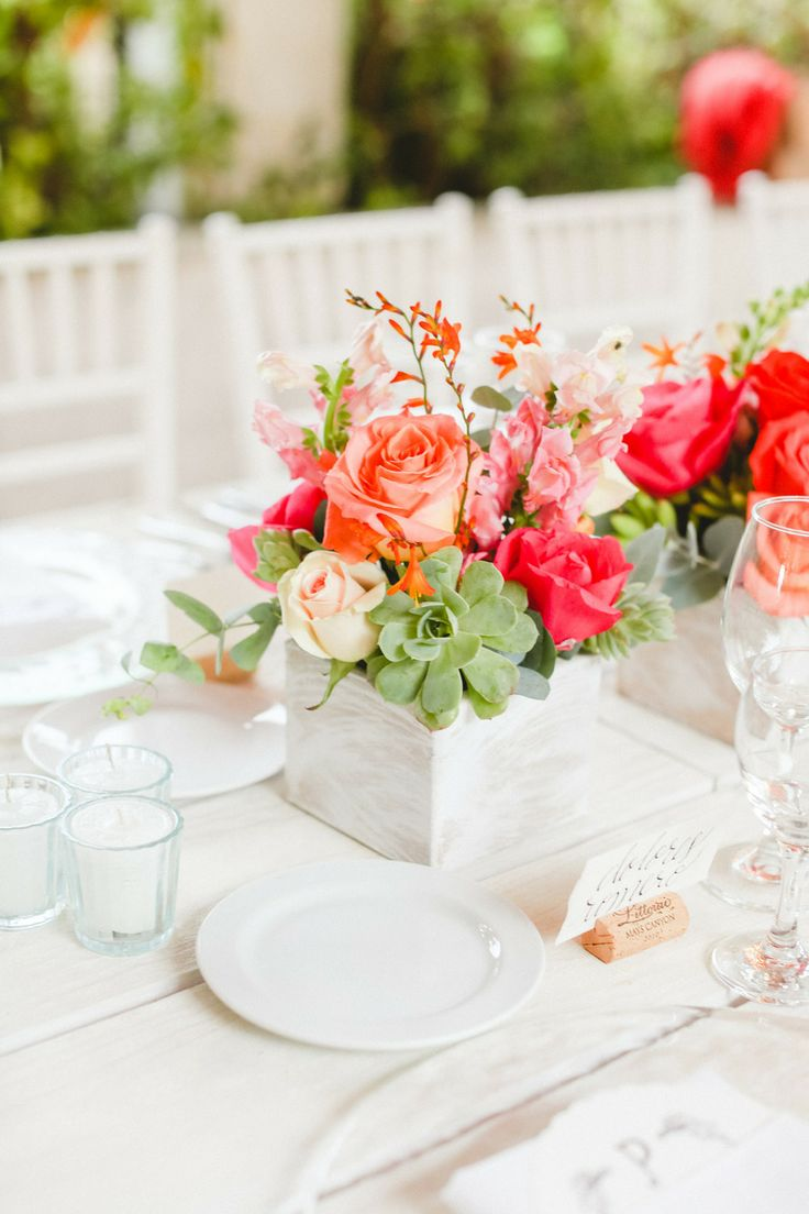 Picture of vivid summer wedding centerpieces for Summer wedding centerpieces