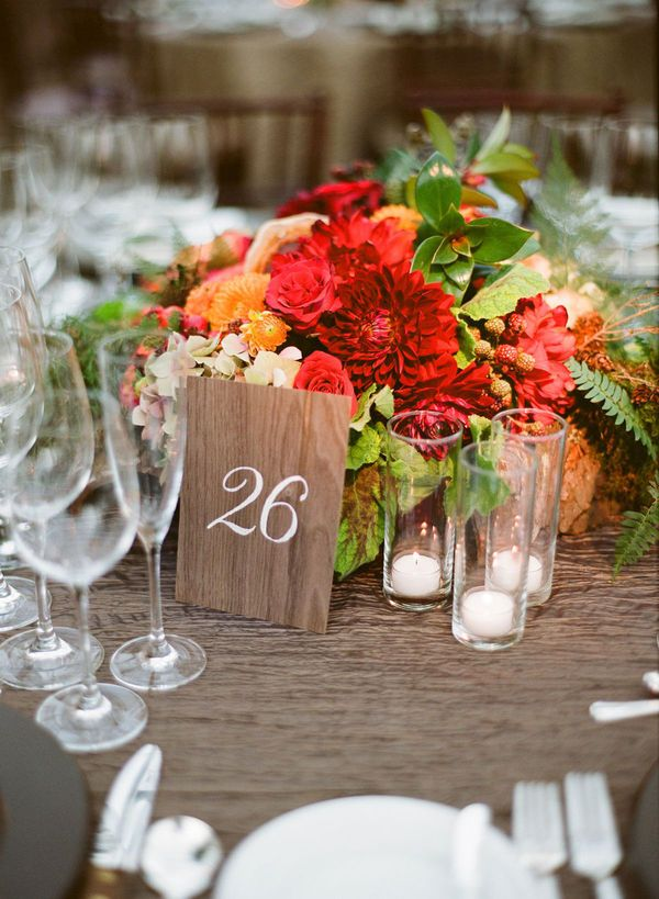 Picture of vivid summer wedding centerpieces junglespirit Images