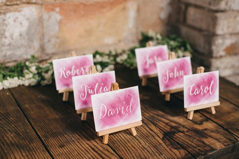 Picture Of watercolor industrial wedding inspiration in an old factory  13