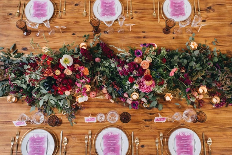 Picture Of watercolor industrial wedding inspiration in an old factory  17