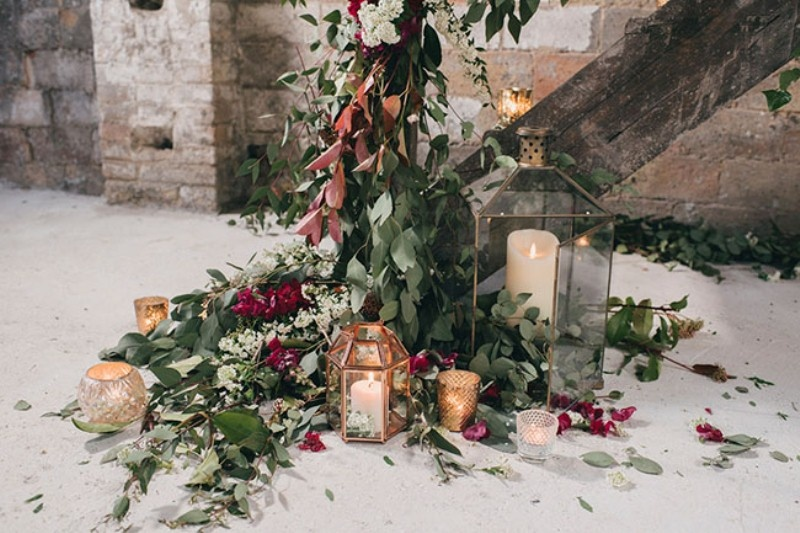 Picture Of watercolor industrial wedding inspiration in an old factory  6