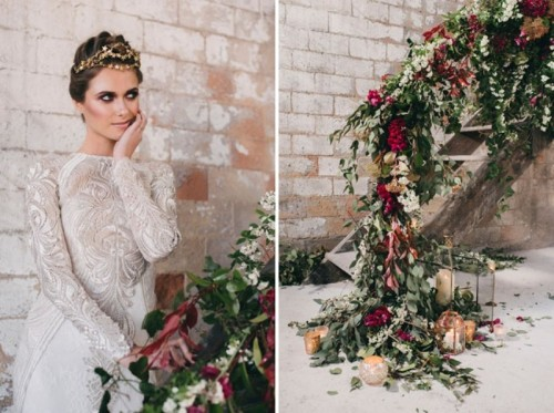 Wedding Dresses Factory 7 Ideal Watercolor Industrial Wedding Inspiration