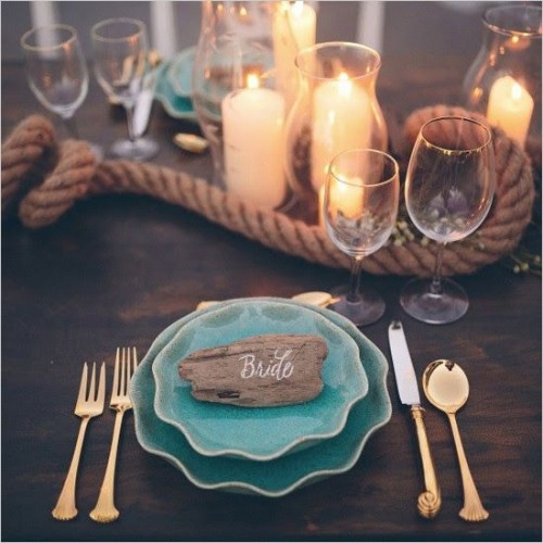 Nautical Decor Centerpieces: 35 Ways To Use Driftwood For Your Wedding Décor