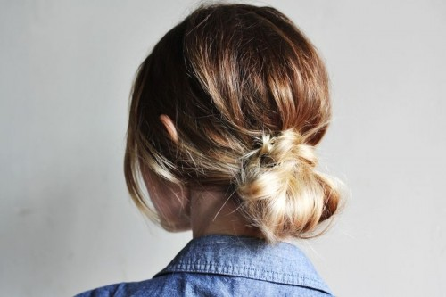 A Low Bun (via abeautifulmess)