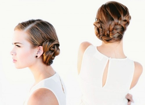 French Braid Bun (via weddingomania)
