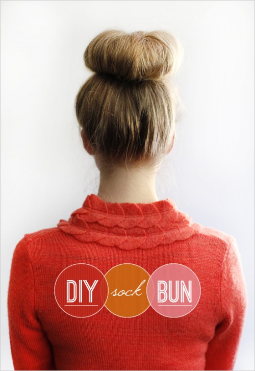 Sock Bun (via weddingchicks)