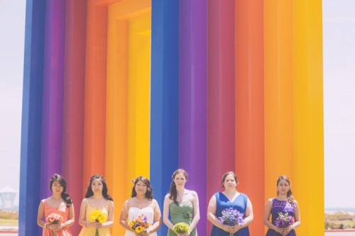 Whimsical And Cheerful Rainbow Inspired Wedding