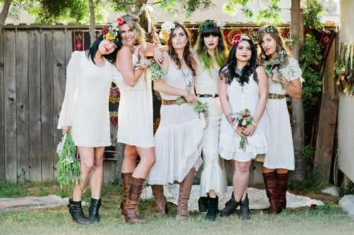 Whimsical Bohemian Backyard Bridal Shower Party
