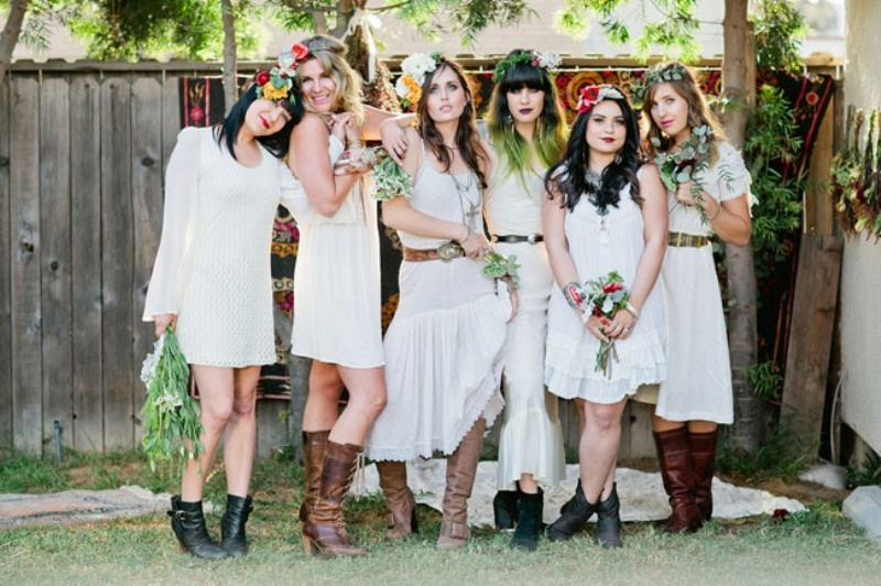 Picture Of Whimsical Bohemian Backyard Bridal Shower Party