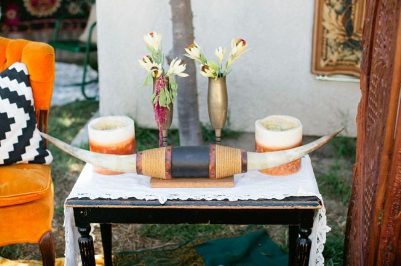 Whimsical Bohemian Backyard Bridal Shower Party