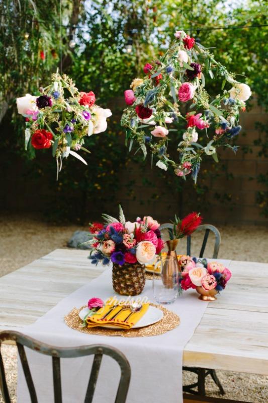 Whimsical Diy Geometric Floral Pendants For Your Wedding Decor