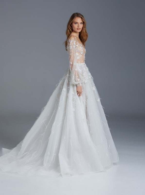 Picture Of whimsical paolo sebastian the nightingale wedding dresses collection  15