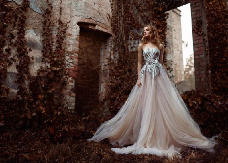 Picture Of Whimsical Paolo Sebastian The Nightingale Wedding Dresses Collection 4