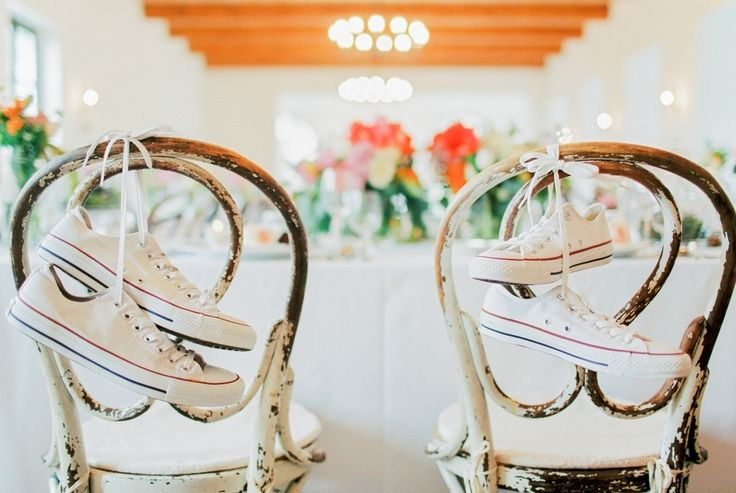 Picture Of whimsical summer wedding with custom silver dress  11